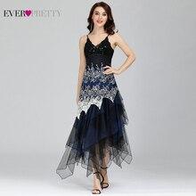 Seksowna sukienka koktajlowa damska długa Spaghetti dekolt w serek czarna biała koronkowa imperium kiedykolwiek ładna EP6212B musujące sukienki koktajlowe w rozmiarze Plus