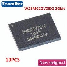 10PCS W25M02GVZEIG WSON8 8X6 2 2gbit 25M02GVZEIG NAND פלאש