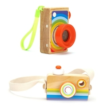 Montessori-Toy Room-Decoration Hanging Kids Children Wood with Strap Photography-Props