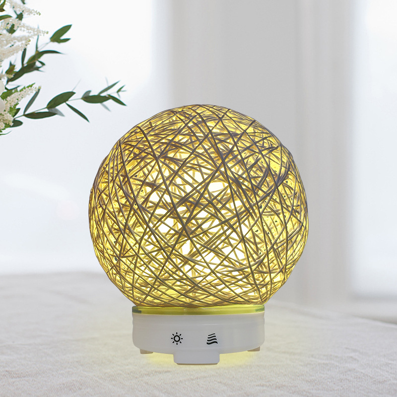 KBAYBO 120ml Aromatherapy Essential Oil Diffuser Electric Air Humidifier Rattan Aromatherapy Machine Atomizer With LED Light