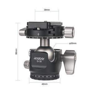 Image 5 - Andoer D 35 for Canon Nikon Sony DSLR Load 8kg Low Profile Double Panoramic Head CNC Machining Aluminum Alloy Ball Head Tripod