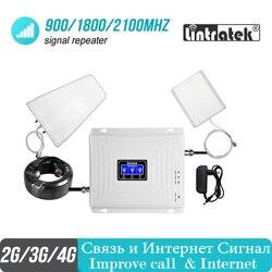 مقوي إشارة خلوي 2g 3g 4g من Lintratek gsm 900 1800 2100 GSM WCDMA UMTS LTE مكرر خلوي 900/1800/2100mhz مضخم للصوت