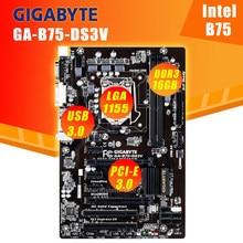 Lga 1155 gigabyte ga GA-B75-DS3V placa-mãe B75-DS3V soquete lga1155 ddr3 para intel b75 b75m desktop original usado mainboard
