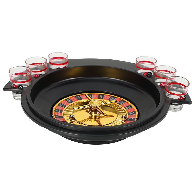 Novelty Gifts Russian Lucky Shot Party Games Roulette Drinking Game With 6 Glass Spin Wheel Portable Board Game For 2 3 Players Board Games Aliexpress