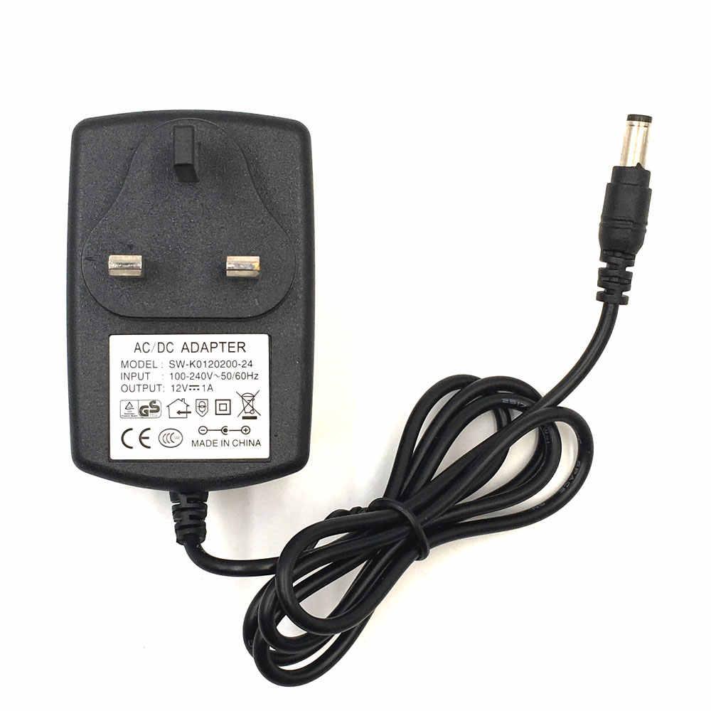 Adaptateur prise secteur cc 12V 1A | Prise ue UK AU US, transformateur d'éclairage en direct, prise de courant 5.5mm x 2.5mm DC