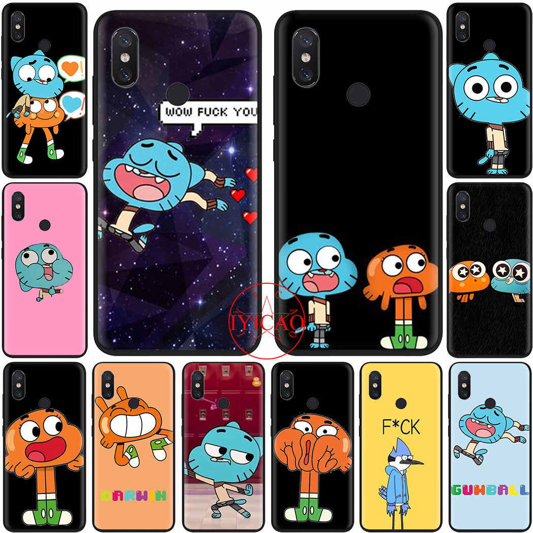 Cartoon Gumball Zachte Siliconen Phone Case Cover Voor Redmi Note 4X 5A Prime 6 7 8 Pro 8T Cover