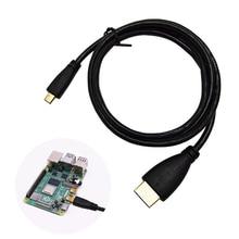 Micro HDMI к HDMI кабель с покрытием HDMI адаптер Шнур для планшета HDTV и Raspberry Pi 4 кабель HDMI, HD