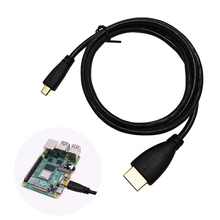 Micro HDMI to HDMI Cable  Plated HDMI Adapter Cord for Tablet HDTV and Raspberry Pi 4  HDMI  HD cable стоимость