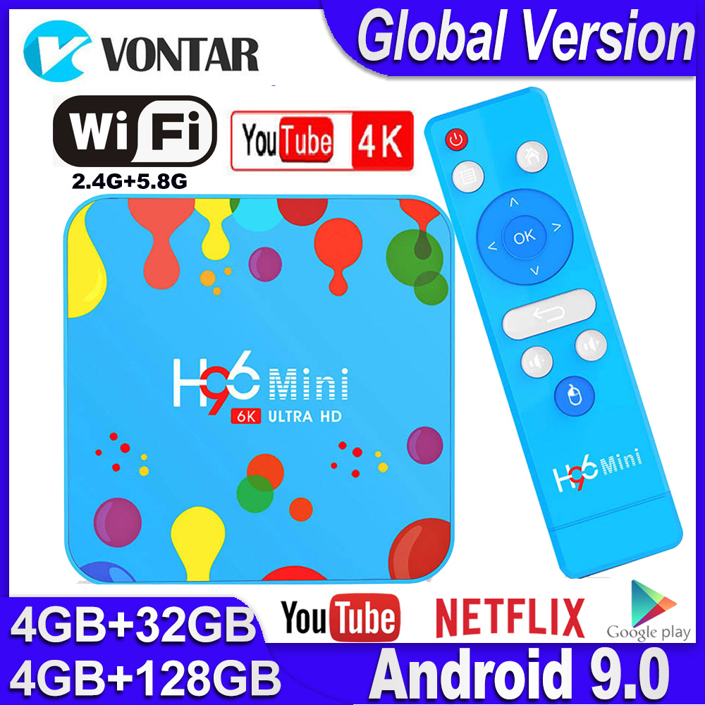 H96 Mini Android TV Box Max 4GB RAM 128GB ROM Smart TV Box Android 9.0 H96mini Allwinner H6 2.4/5G Wifi TVBOX Netflix Youtube 4K