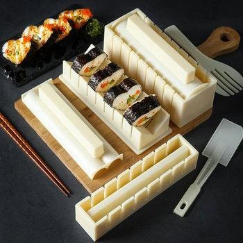 10 sztuk DIY do robienia Sushi w komplecie z nożem do Sushi DIY zestaw do Sushi łatwe i zabawne rolki Sushi w kształcie serca tanie i dobre opinie Aihogard stojaki CN (pochodzenie) Ekologiczne Na stanie Other