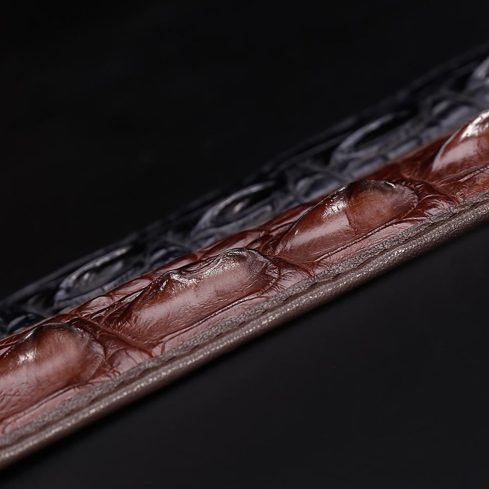Männer Krokodil Leder Gürtel Heißer Designer Gürtel Männer Luxus Strap Mode Vintage Glatte Schnalle Gürtel - 6