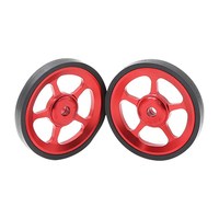 1pair Outdoor Super Light Riding Modification Mini Stable Sports Easy Wheels For Brompton Cycling Folding Bike Bicycle 29.5g|Rims| |  -