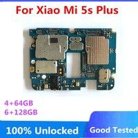 Für Xiaomi Mi 5S Plus Motherboard 4 + 64GB / 6 + 128GB Voll Chips Logic Board fabrik Entsperrt MainBoard Voll Getestet Platte