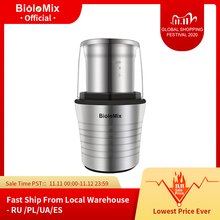 2 in 1 Wet and Dry Double Cups 300W Electric Spices and Coffee Bean Grinder Stainless Steel Body and Miller Blades