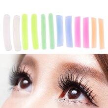 6pairs Reusable Curl Eyelash Patches Lash Perm Rods Lift Stickers Makeup