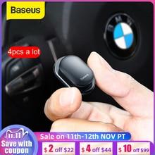 Baseus 4 قطعة سيارة السنانير المنظم لتخزين كابل يو اس بي سماعة مفتاح التخزين الذاتي لاصق جدار هوك شماعات السيارات السحابة كليب