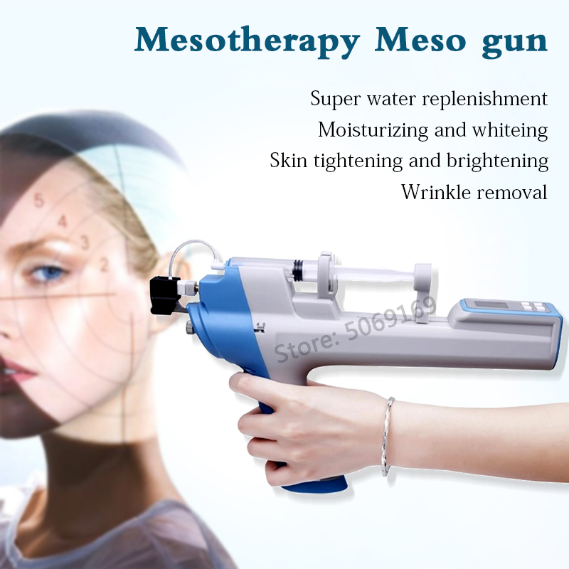 Handheld Keine-Nadel Mesotherapie Injection Pistolen Vanadium Titan Nano Gerät Für Gesichts Bleaching Falten Entfernen Schönheit Maschine