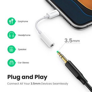 Image 2 - Ugreen MFi Lightning to 3.5mm Jack Headphones Adapter 3.5 AUX Cable Converter for iPhone 12 SE 11 11 Pro Max X XR iPhone 7 8 8P