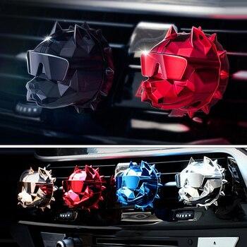 Bulldog Shape Car Air Freshener Air Fresheners 6ee592b94717cd7ccdf72f: 2 Pcs Flavour Tablet|Gold|Gun Gray|Matte Black|Red|Rose Gold|Silver