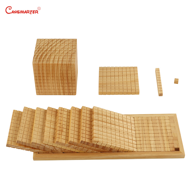 Juguetes de matemáticas diez bases, caja de madera Montessori profesional Montessori, juguetes educativos para estudiantes, juguetes para niños MA085 - 3