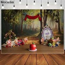 Mocsicka Fairy Forest Cake Smash Photography Backdrops Magic Mirror Decor Girl Birthday Photocall Background Photo Studio