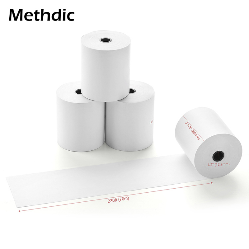 Methdic 3 1/8 X 230 Thermal Paper 10Rolls/box For Cash Register POS Super Long Mobile Bluetooth Cash Register Paper Roll