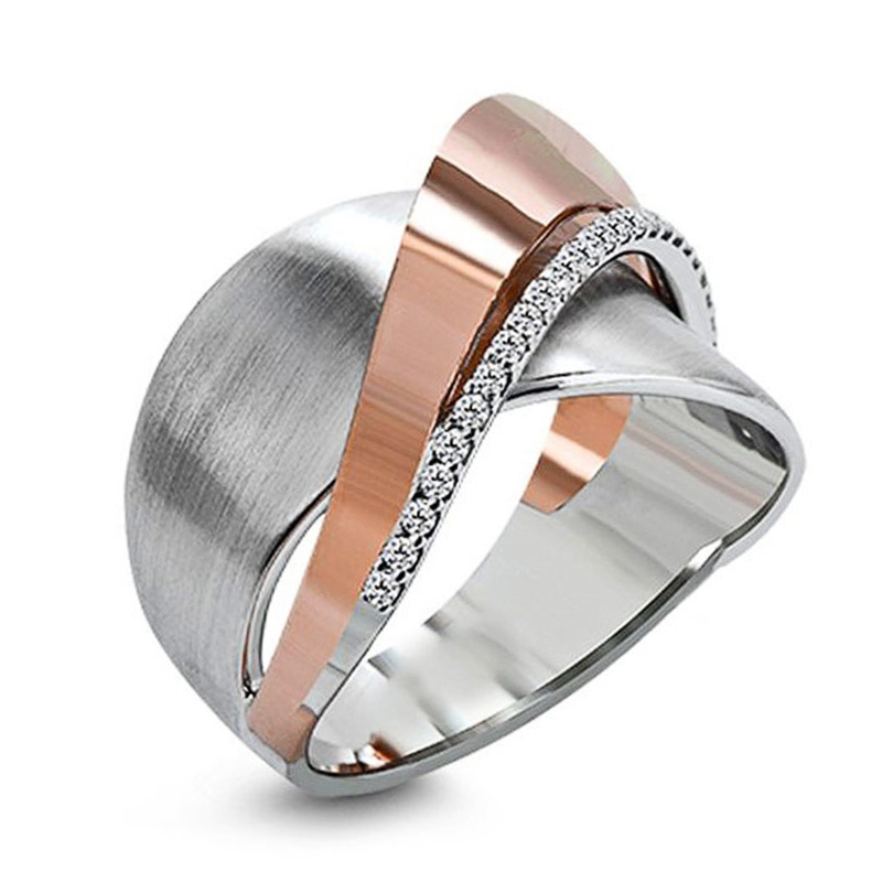 Huitan Geometric Shape Metal Women Ring Party Accessories Daily Office Lady Finger Ring Personality …