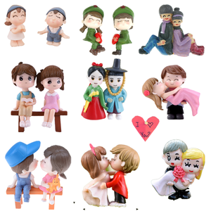 Cute Mini Figurines Miniature Old Granny Grandpa Resin Crafts Ornament Fairy Garden Supplies Mini Home Decoration