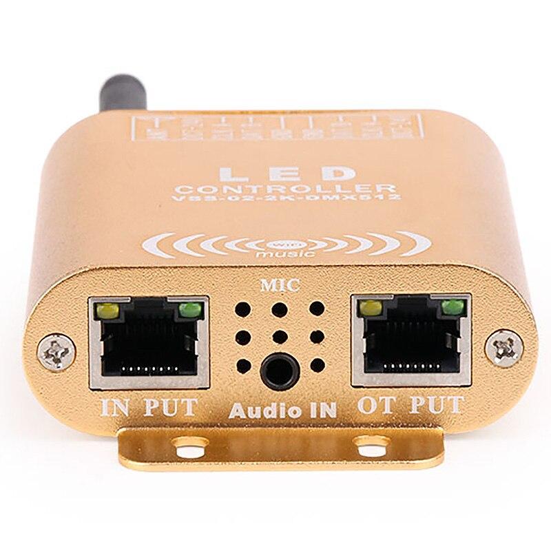 Controlador do spi da conexão de wifi, controlador endereçável de digitas do diodo emissor de luz do pixel 2048, controlador claro da tira da cor do sonho com micphone - 4