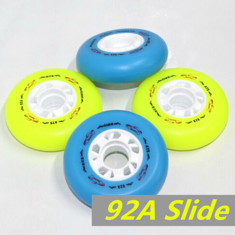 92A Sliding Braking Wheel 4 Pcs/Lot Original ATS Inline Skates Wheel, For Sliding Braking Skating SEBA Patins