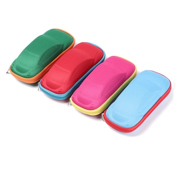 1Pcs Children Glasses Case Hard Frame Eyeglass Case Portable Sunglasses Reading Glasses Box Car Shaped Spectacle Cases Eyewear image