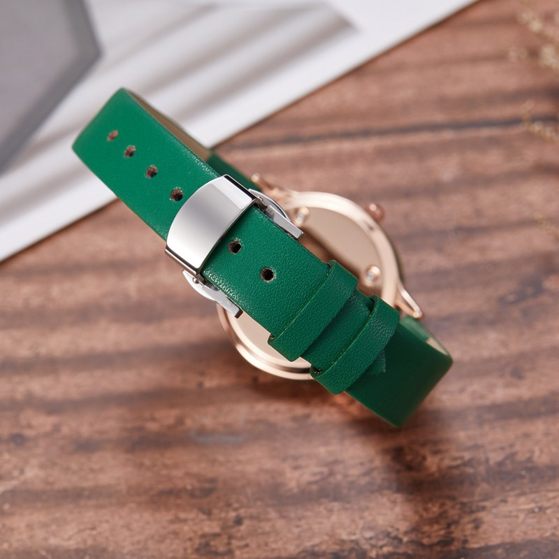 Gorben Genuine Leather Quartz Watch Roman Numerals Women Clock Fashion Casual Female Wristwatch Luxury Wrist Watches - 5