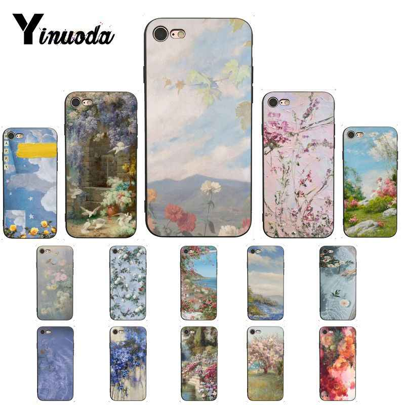 Yinuoda Flower Painting Aesthetic Wallpaper Protector Phone Case For Iphone 6s 7 7plus 8 8plus X Xs Max 5 5s Xr 11 Pro Max Half Wrapped Cases Aliexpress