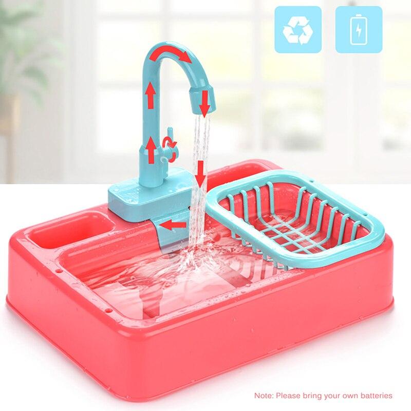 Crianças pia da cozinha brinquedo conjunto de lavagem de louça brinquedos fingir jogar jogo de casa simulação de cozinha elétrica máquina de lavar louça brinquedos