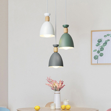 Nordic Iron Pendant Lights Wood Hanging Lamp Simple Pendant Lamp for Living Room Bedroom Kitchen Dining Room decor hanging lamp