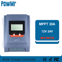 MPPT 30A Controller Solar-Charge Battery 24V 12V with Real-Time-Energy Statistics-Function