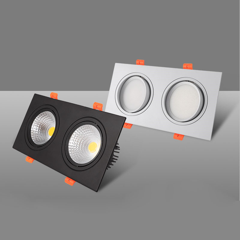 LED Ceiling Downlight 14W 20W 30W 40W LED COB Downlight AC85-265V Square Recessed Dimmable LED Down Light LED Spot Light Lamp