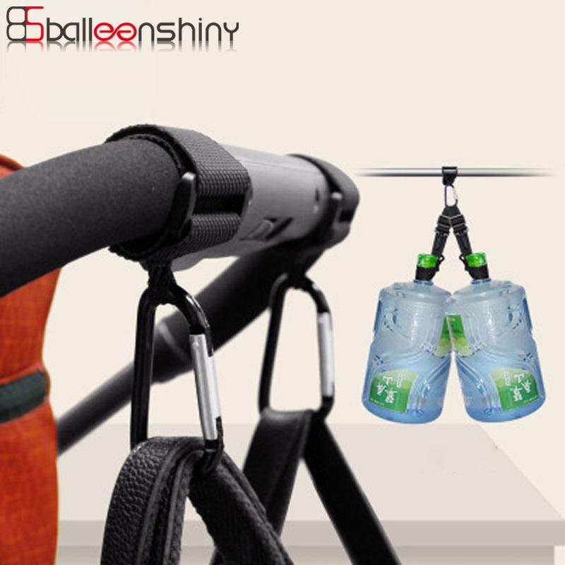 Balleenshiny 1pc Baby Stroller Hooks Wheelchair Stroller Pram Carriage Bag Hanger Hook Shopping Bag Clip Stroller Accessories thumbnail