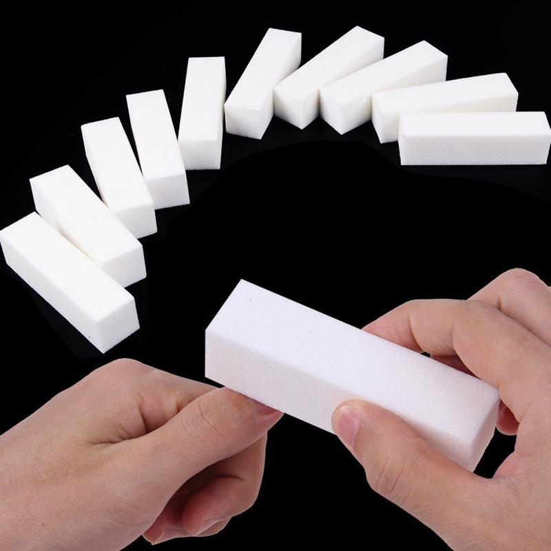 1 шт. белая пилка для ногтей, полировка, мягкий пластиковый блок для маникюра, губка, наждачная бумага, Прочный Маникюр с полировкой, блок-буф...