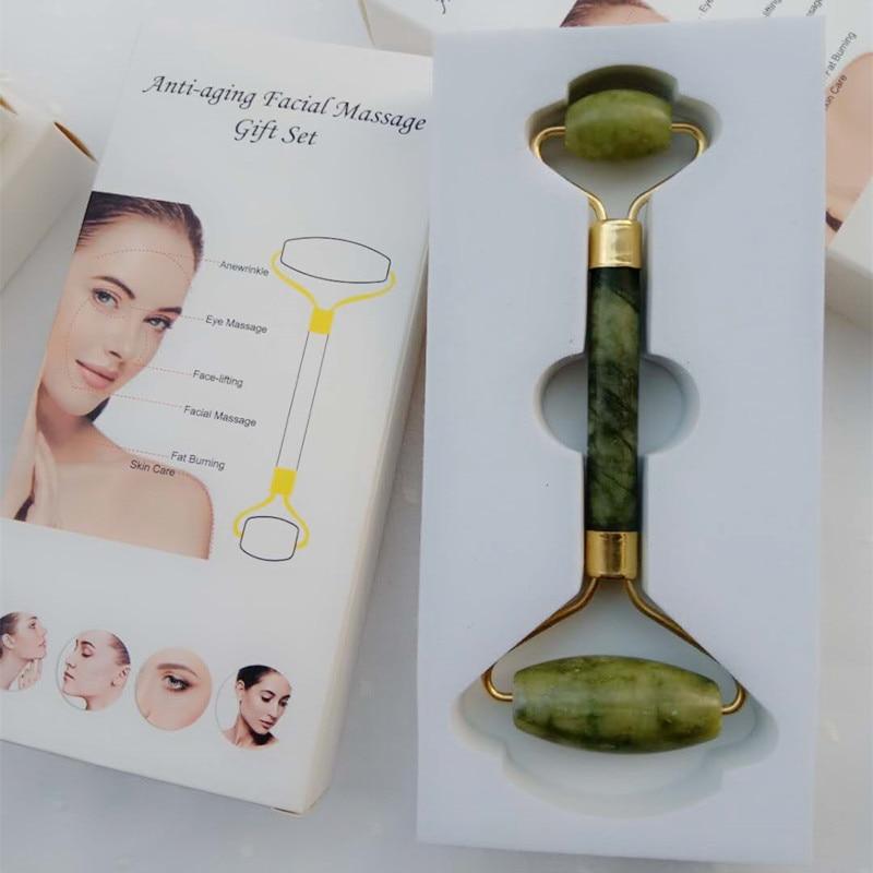 Facial Roller Massager And Scraper Board Board Scraping Tool Facial Massage Chinese Medicine Natural Jade Drop Shipping