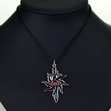 Game Dragon Age 3 Inquisition Necklaces Punk Black Sword Evil Eye Pendant Necklaces For Women And Men Jewelry Accessories(China)