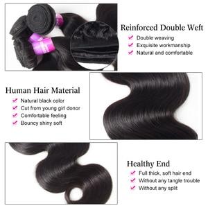 Image 3 - Recool ברזילאי שיער Weave חבילות עם סגירת גוף גל חבילות עם שקוף תחרה פרונטאלית שיער טבעי חבילות עם סגירה