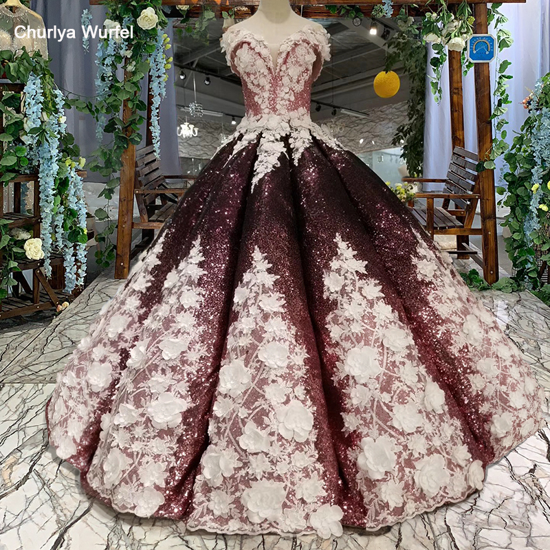 HTL094 swollen shiny evening dresses  ball gown off the shoulder sweetheart lace up back floor length prom dresses with flowers-in Evening Dresses from Weddings & Events    1