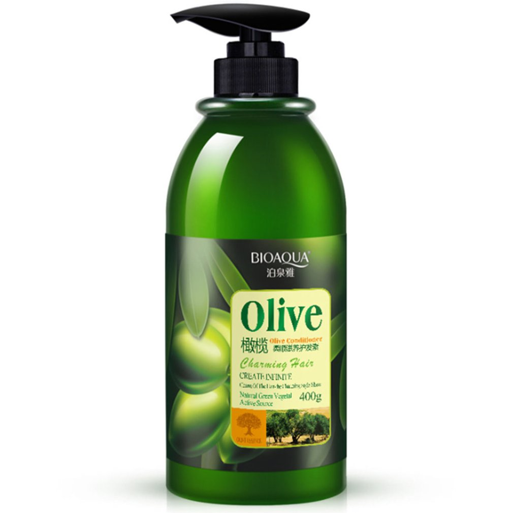 BIOAQUA Olive Pliant And Nourishing Hair Conditioner 400ml Dry Hair Frizz Special Disposable Conditioner AL0009+0009