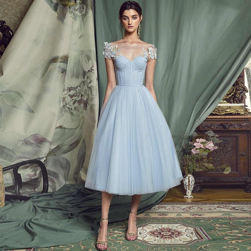 Вечернее платье Verngo A line, короткое вечернее платье 2020, платье для выпускного вечера с длинными рукавами, кружевное официальное платье с аппликацией для вечеринки Вечерние платья      АлиЭкспресс