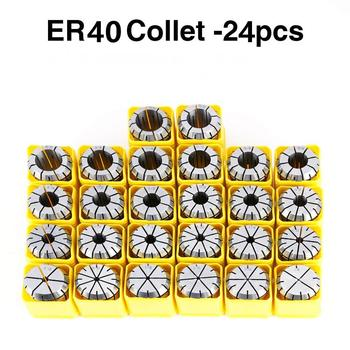 High Precision ER40 Collets 3mm - 26mm Spring Collet 0.005 Accuracy ER40 Collet Chuck Holder CNC Machine Engraving Milling
