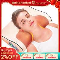 Infrarouge chauffage cou épaule dos corps électrique Massage oreiller Shiatsu masseur dispositif Cervical sain Massageador Relaxation