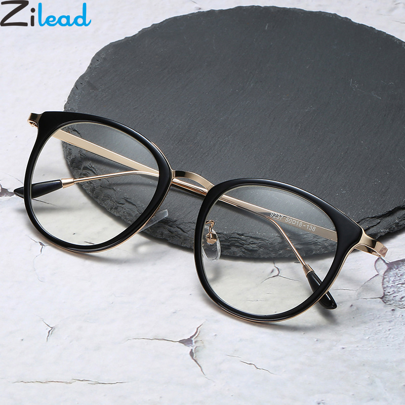 Zilead Ultralight Metal Anti Blue Light Glasses Frame Men&Women Computer Games Goggles Eyeglasses Optical Spectacle