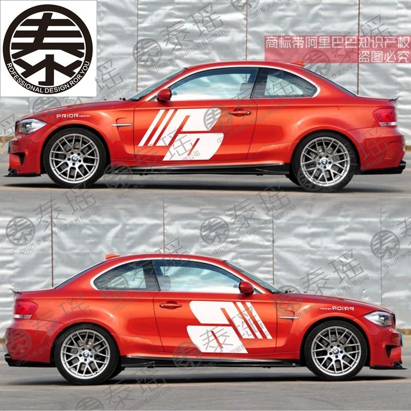 Adhesivos para coche TAIYAO para M1 M2 M3 M4 M5 Z4 X1 X5 X3 X6 X7, adhesivos deportivos para puerta Prior Design