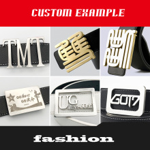 Fashion High Quality Buckle Personal Pattern Customization Business Logo Customized Belt